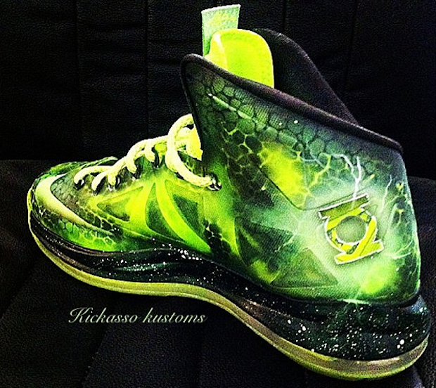 Green Lantern Shoes | Filed Under: Nike Tagged With: LeBron X Custom