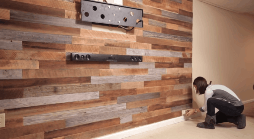 How To Make a DIY Accent Wall Using Pallets | Wooden ...