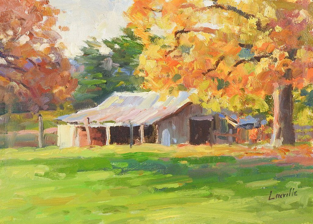 Plein Air Landscape Painting By Marlin Linville in 2020
