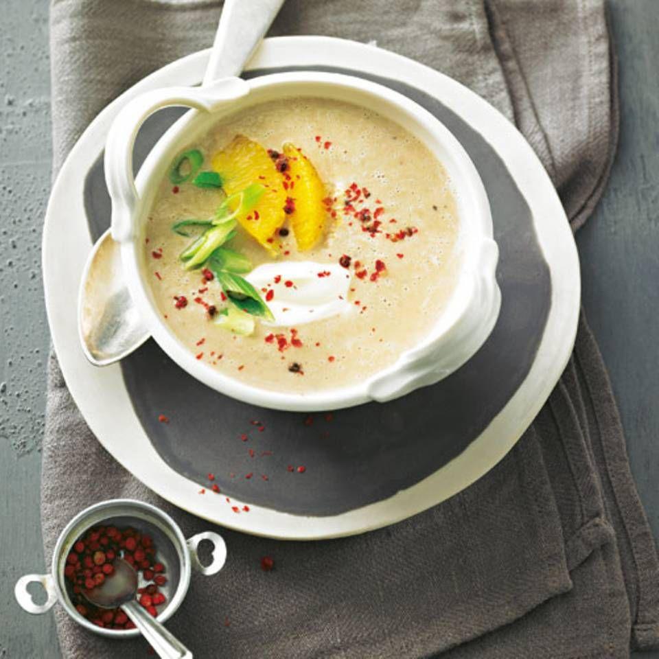 maronensuppe mit orangenfilets rezept suppenk che suppen maronen suppe und suppen rezepte. Black Bedroom Furniture Sets. Home Design Ideas