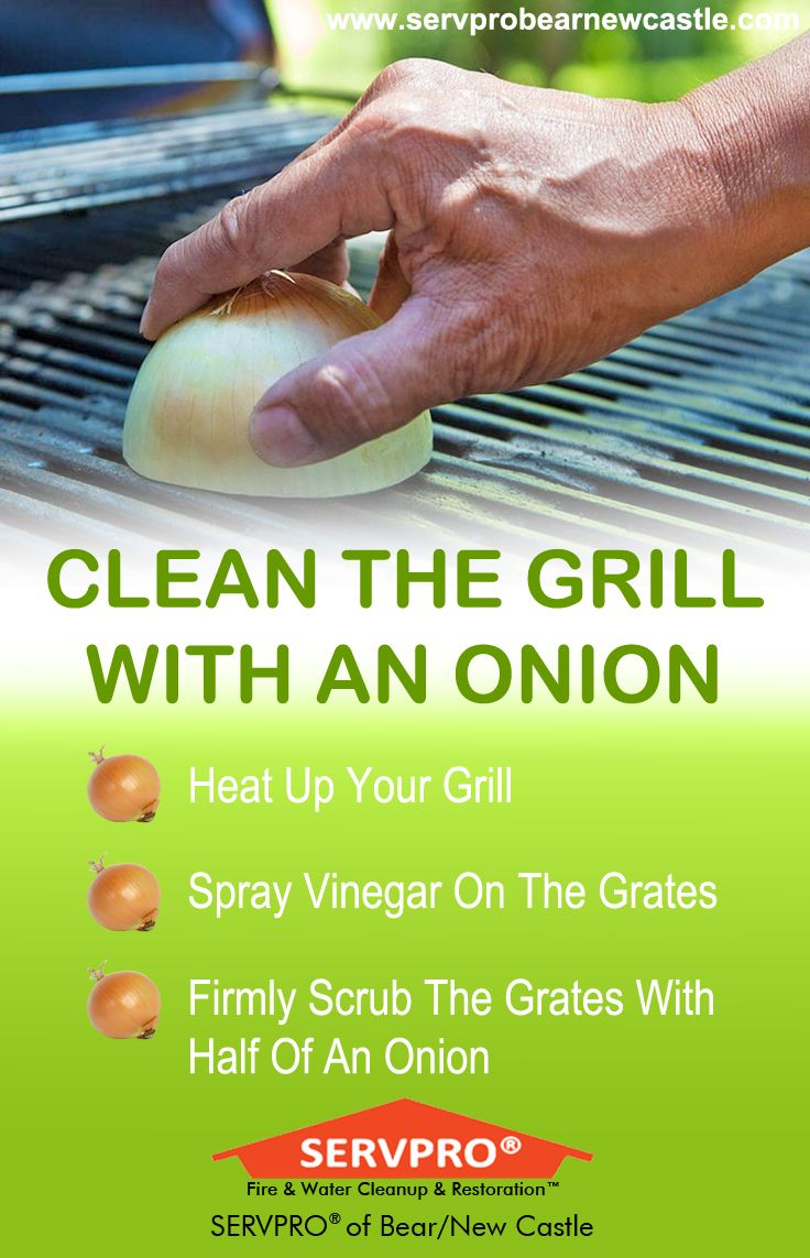 Clean the grill with an onion get your grill cleaned and