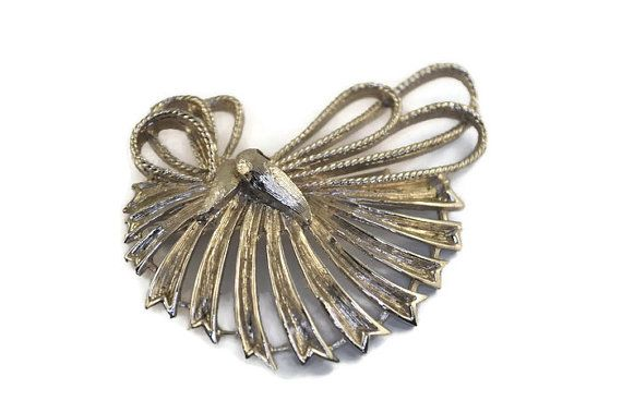 1940's Coro Marked Large Silver Brooch by istoriya on Etsy
