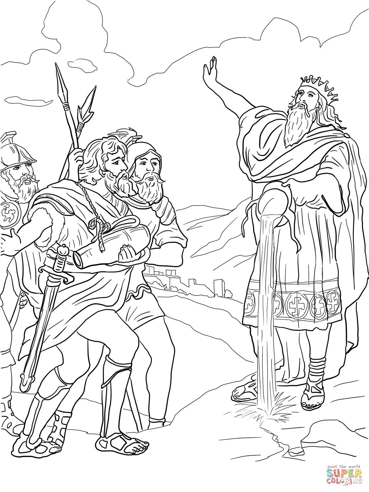 Coloring Picture Of David S Mighty Men Google Search Coloring