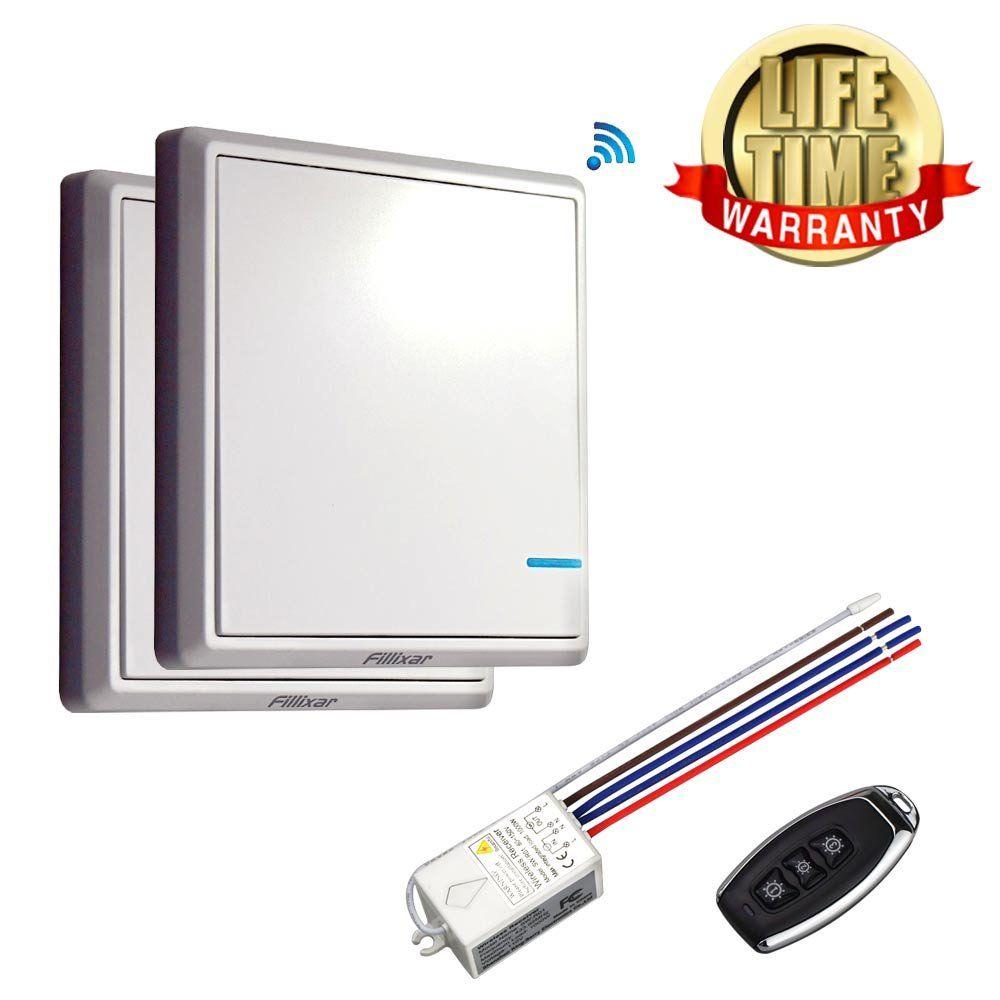 Fillixar Remote Light Switch, Wireless Light Switch, Remote Switch ...