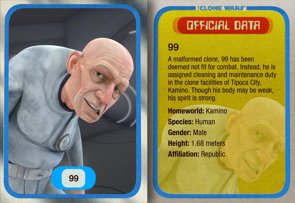 99 Is A Malformed Clone Of The Mandalorian Bounty Hunter Jango Fett Who Served Cloning