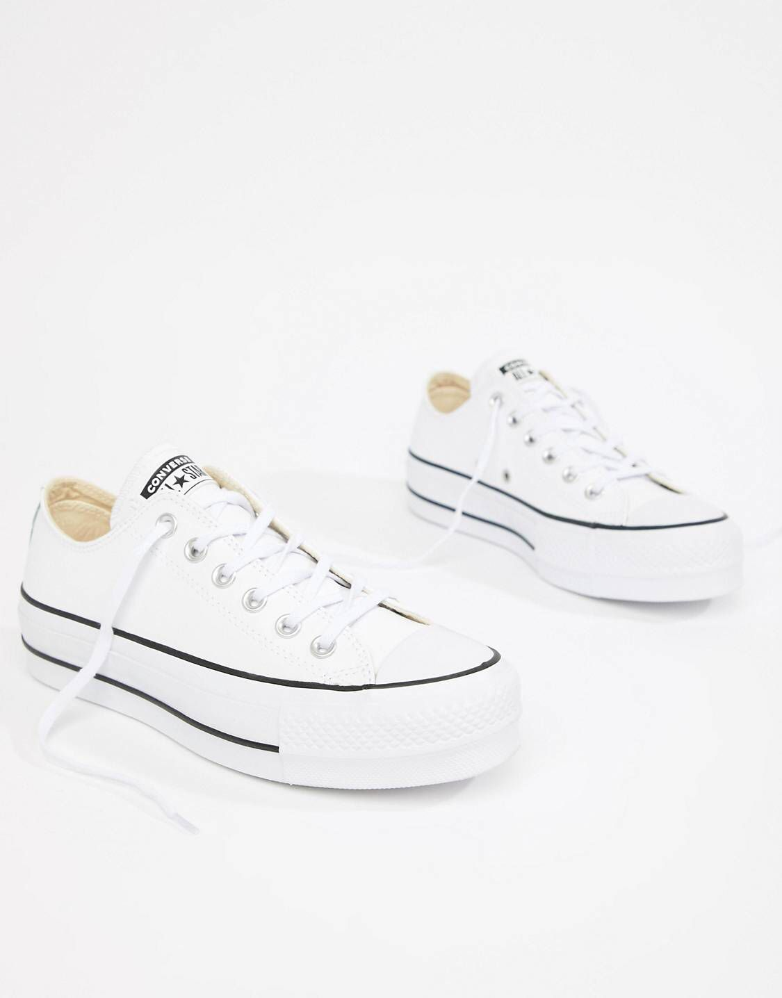 95a9c62a7405 Converse Chuck Taylor All Star leather platform low sneakers in ...