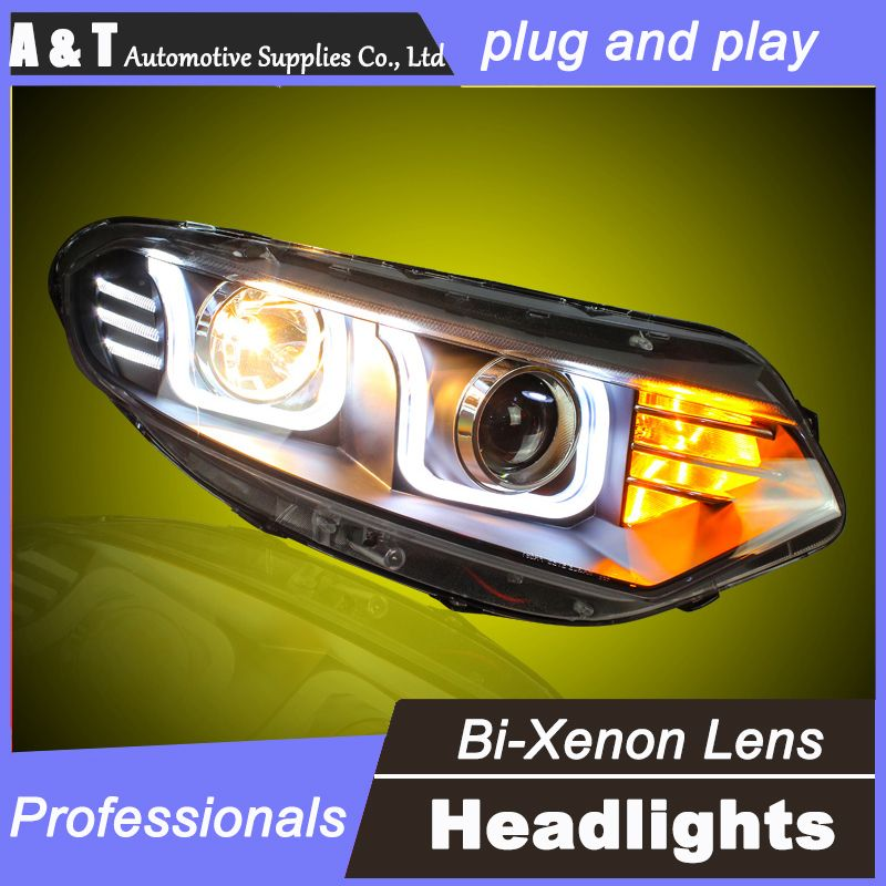 Car Styling For Ford Ecosport Headlights U Angel Eyes Drl 2013for