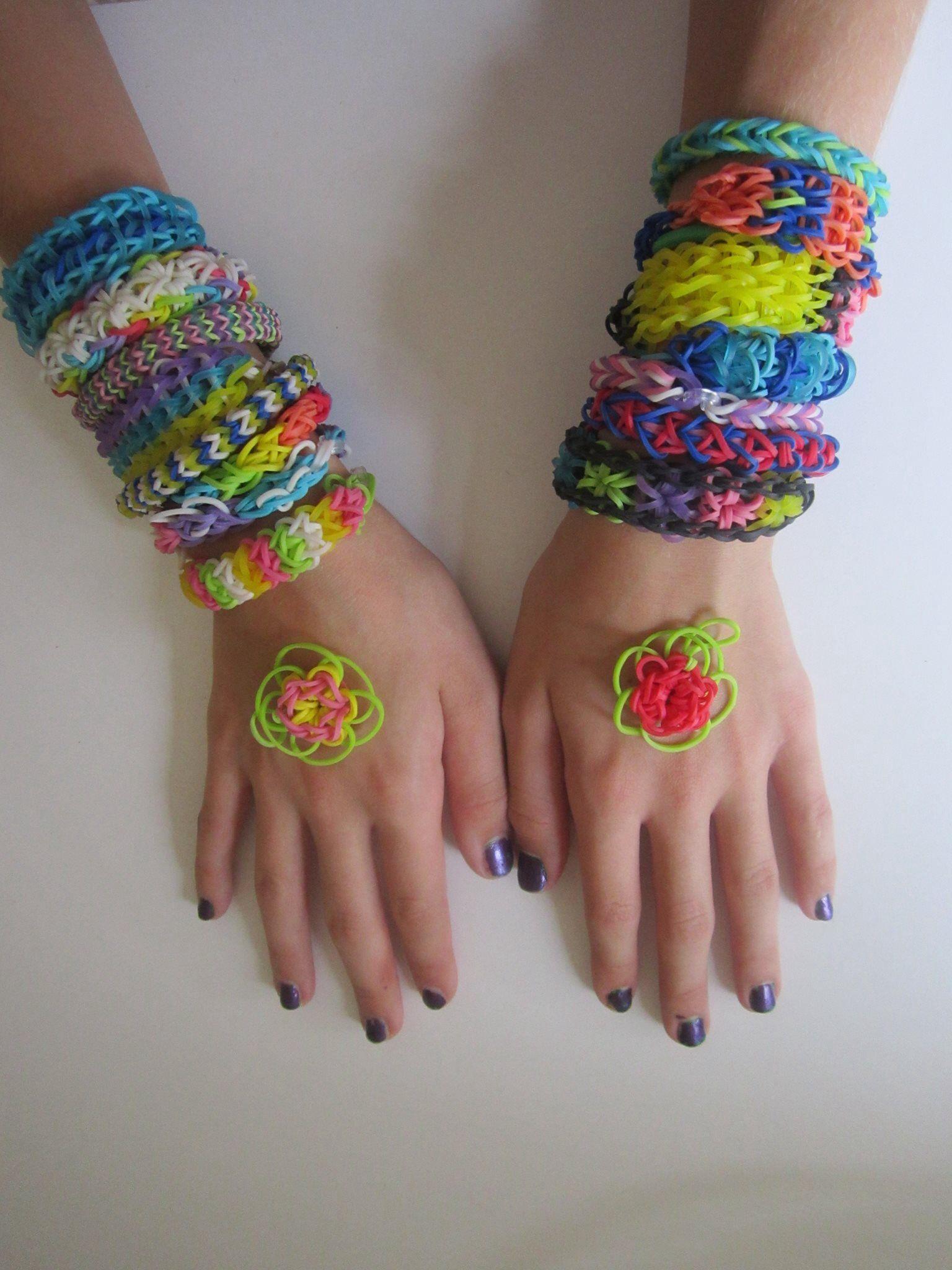 8b2c96783577 Rainbow loom haz tus propias pulseras , kit para hacer pulseras de ...