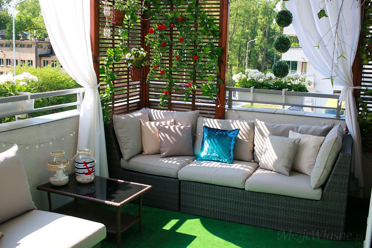 Balkon Lato Aranzacja 2017 Moje Wlasne Balkon Terraza Jardin