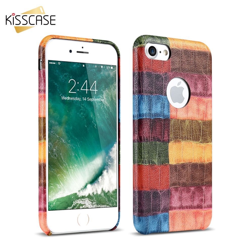 For Iphone 7 6 6s Plus Cases Crocodile Leather Skin Hard Pc Back Cover Case For Apple Iphone 6 7 6s Plus Coque Fundas Apple Iphone 6s Plus Leather Skin Case
