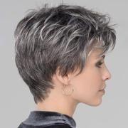 Photo of KAMI 081 Parrucche corte grigio naturale con taglio Pixie Ricci con frangia per donne fantastiche