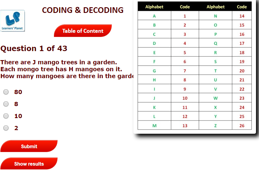 Topics Covered Coding And Decoding Basic Geometry Skills Information Given In The Comprehension Is In Math Olympiad Grade 6 Math Worksheets Free Math