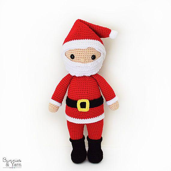 Hermosa Los Patrones De Crochet De Papa Noel Para Principiantes ...