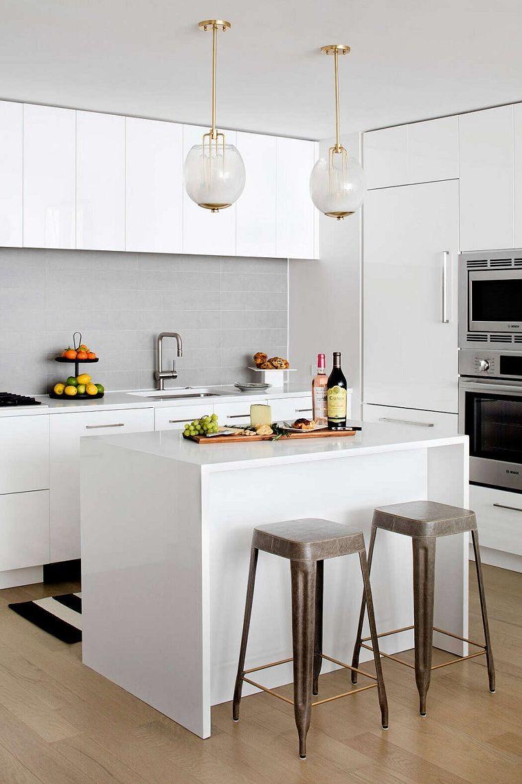 Cocinas Blancas Pequenas Con Isla