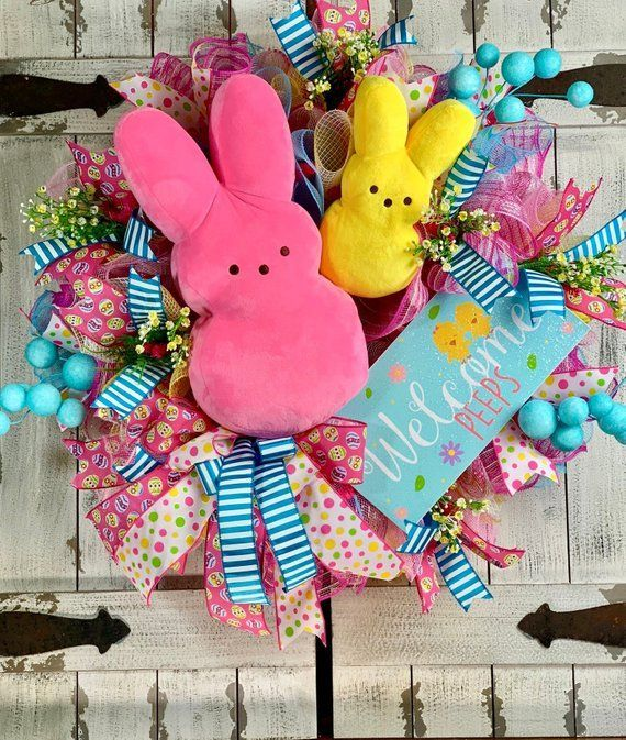 Photo of Mesh Easter Wreath   DIY Easter Decor Ideas for the Home #easterprojects – Barcelona