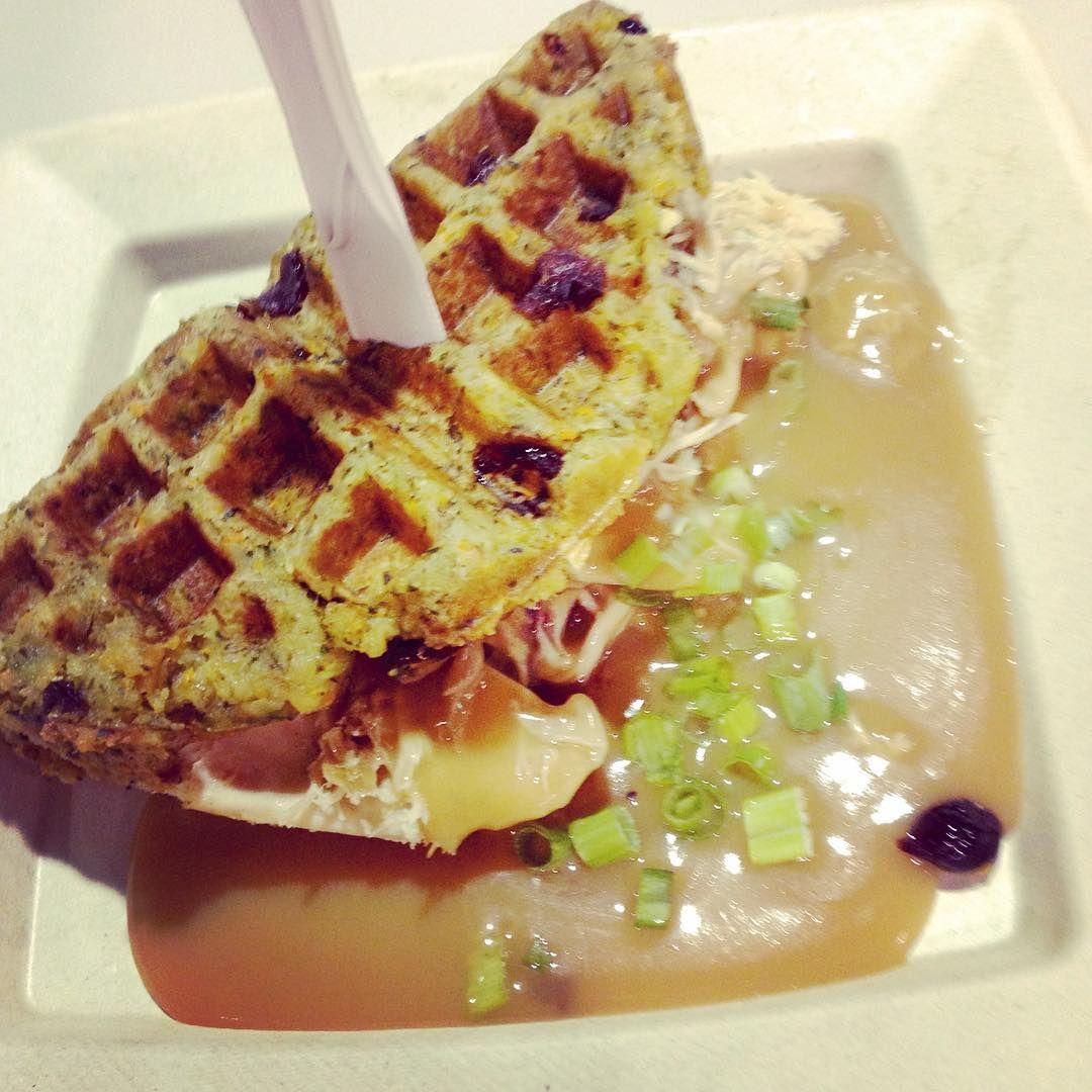 letsgototheex...fransrestaurant... thanksgivingwaffles cne2015
