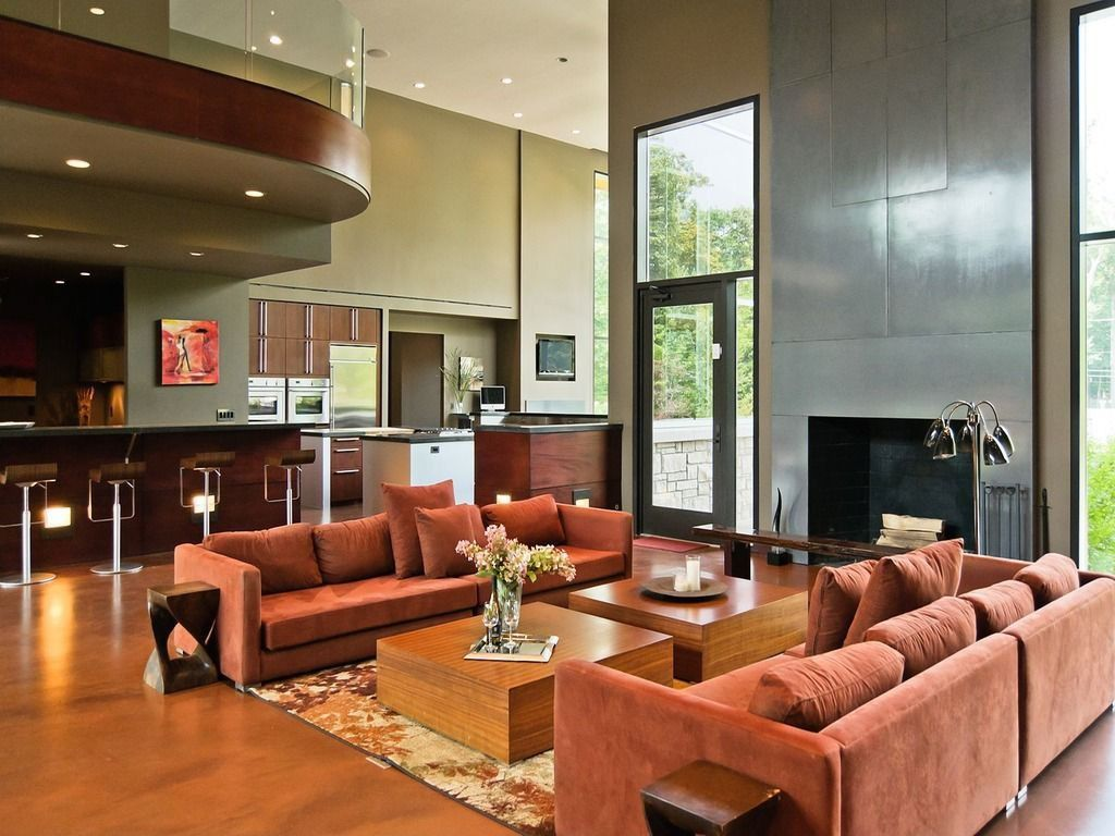 Contemporary living room found on zillow digs