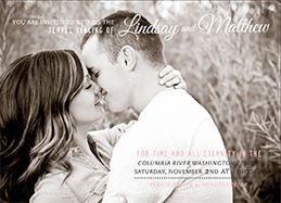 LDS Wedding Invitations   Utah Announcements