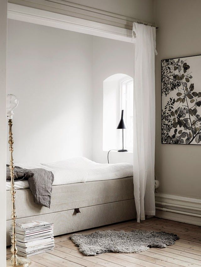 A serene space with a fab bed nook