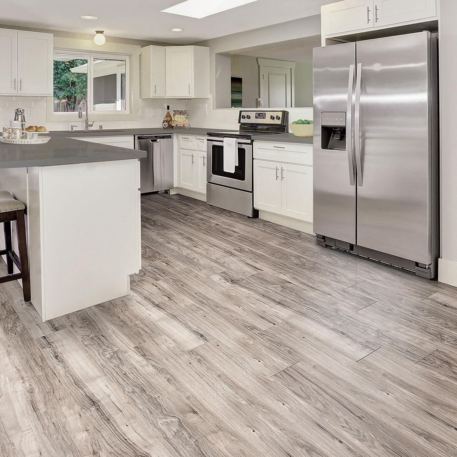 Select Surfaces Southern Gray Spill Defense Laminate Flooring Sam S Club Grey Laminate Flooring Flooring Kitchen Flooring