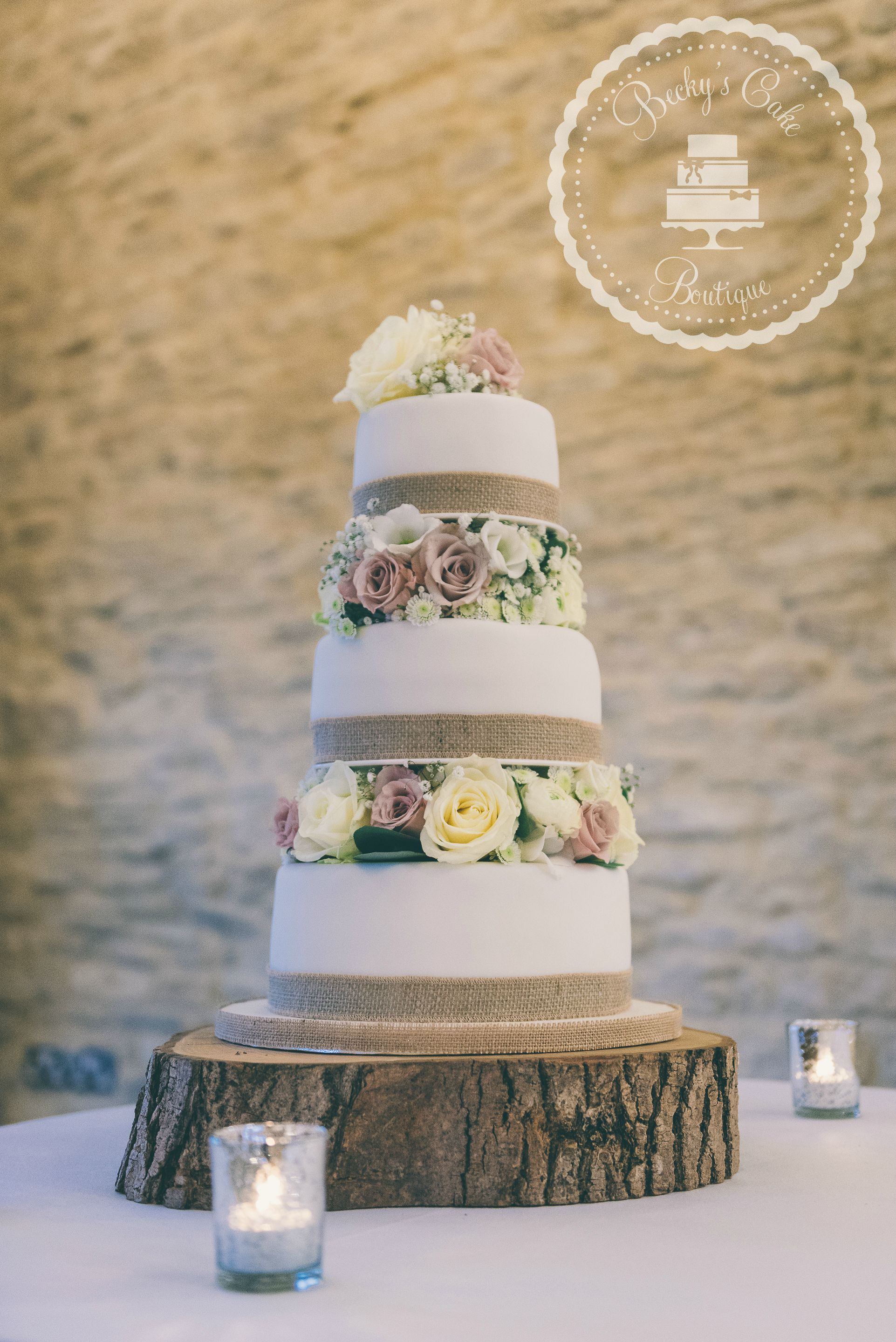 Fresh Floral Wedding Cake At Kingscote Barn Tetbury In Salted - Cheltenham Wedding Cakes