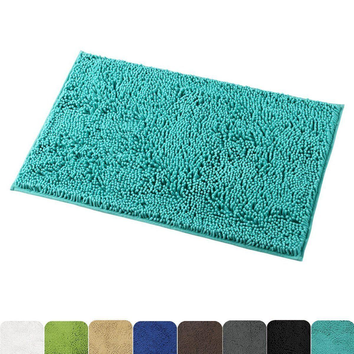 Mayshine Nonslip Bathroom Rug Shag Shower Mat Machinewashable Bath Mats With Water Absorbent Soft Microfibers 20 W X Washable Bath Mat Bathroom Rugs Shower Mat
