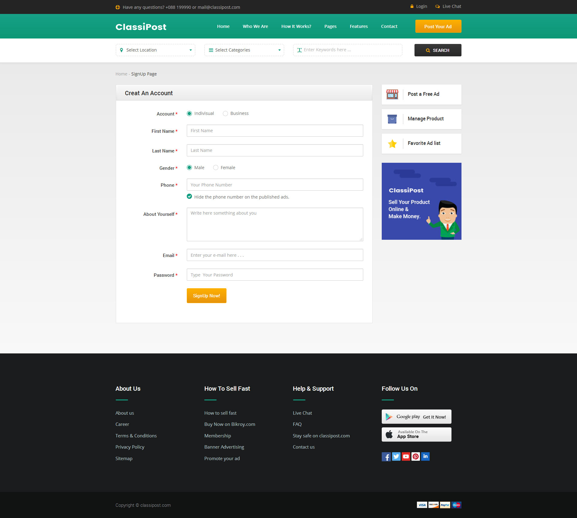 Classipost classified ads html template classified classipost classipost classified ads html template classified classipost ads template websites ideas projects pinterest html templates templates and maxwellsz