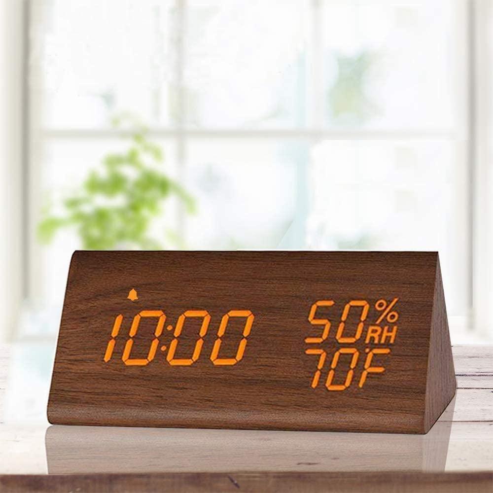 Wooden Digital Led Alarm Clock In 2020 Digital Alarm Clock