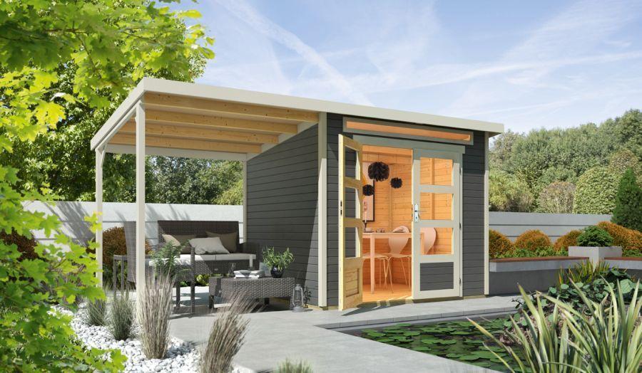 Wolff Flachdach Gartenhaus Venlo mit Schleppdach Bestellen Sie Ihr Gartenhaus beim Fachmann! Über 1.000 Modelle mit Flachdach, Spitzdach, 5-Eck uvm. +++ 0€ Versand. +++ Jetzt Schnäppchen sichern!