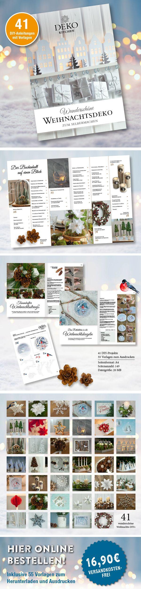Wunderschöne Weihnachtsdeko zum Selbermachen | DIY: wunderschöne ...