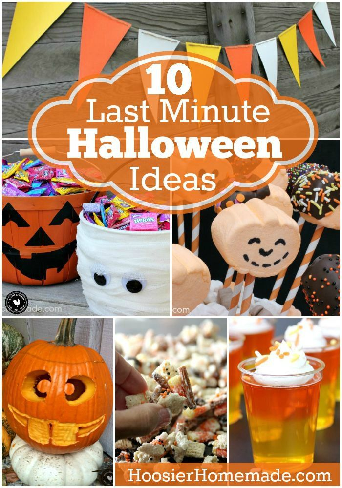 10 Last Minute Halloween Ideas Kid Friendly Halloween Halloween Fun Halloween Crafts
