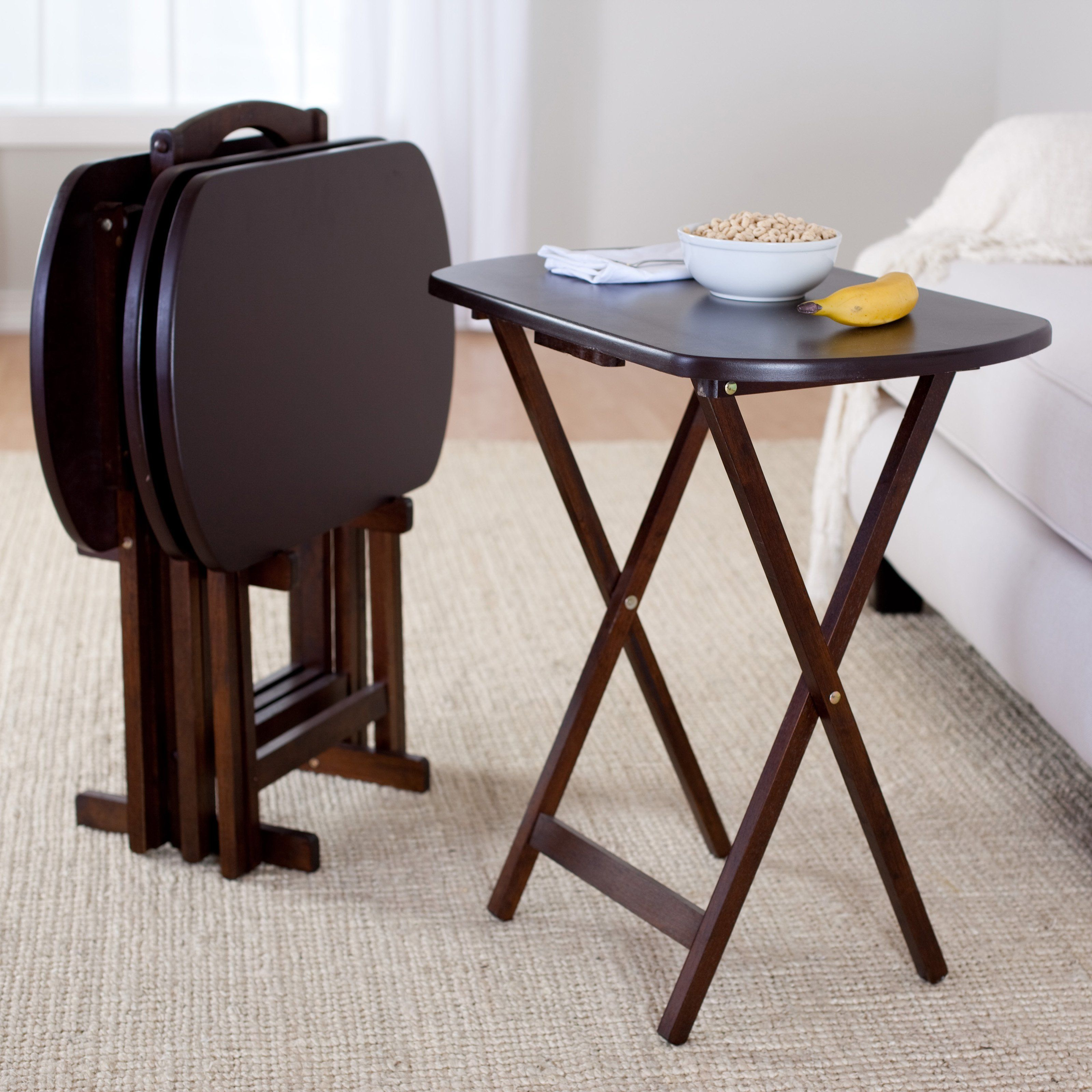 Winsome 5-Piece Oblong TV Table Set - Every home needs a TV tray set ...