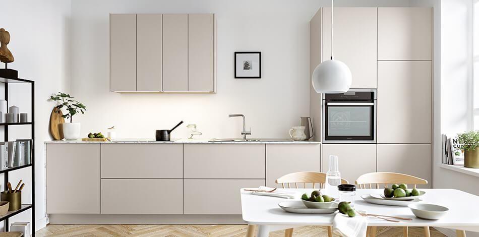 Kuchenfronten Trends 2018 Fronten Aus Glas Beton Metall Matte Fronten Bilder Und Ideen Kuchenfinder Kuchen Design Kuche Beige Wohnung Kuche