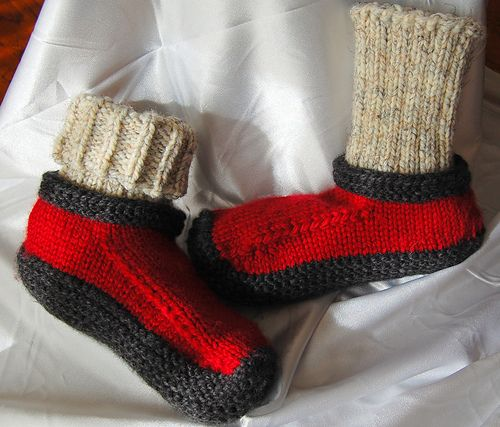 Ravelry: RiderJen's Jim's Slippers with Afterthought Cuff