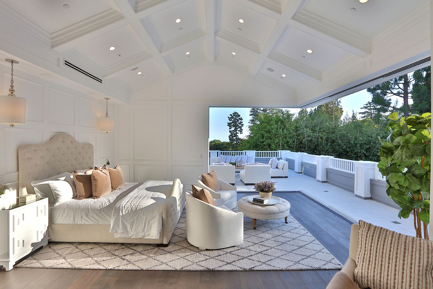 Luxury White Master Suite With Deck Warehouse Living Outdoor