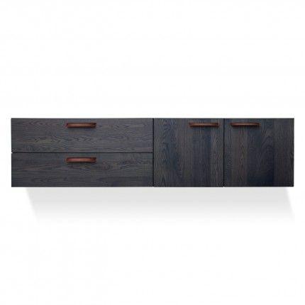 Shale 2 Door 2 Drawer Wall Mounted Cabinet Drawers Modern Dresser Cabinet