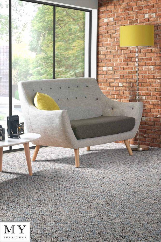 Finn Juhll Style Poet Sofa Retro 2 Two Seater Sofa Solid Oak Legs Grey Retro Sofa Easy Home Decor European Home Decor