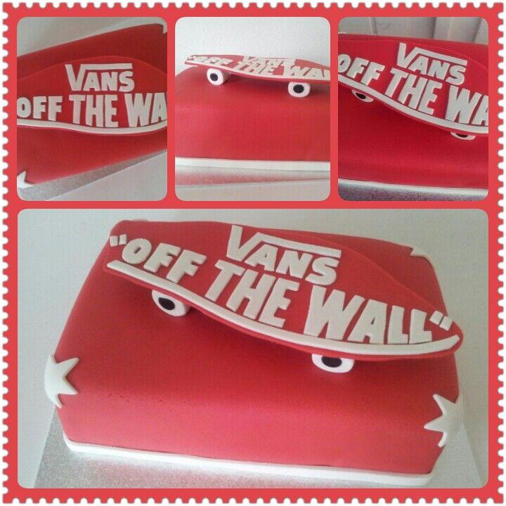 Fondant old vans shoe cake