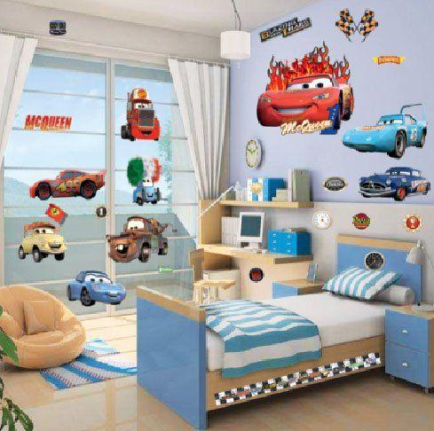 Cars Cartoon Nursery Decor For Baby Boy