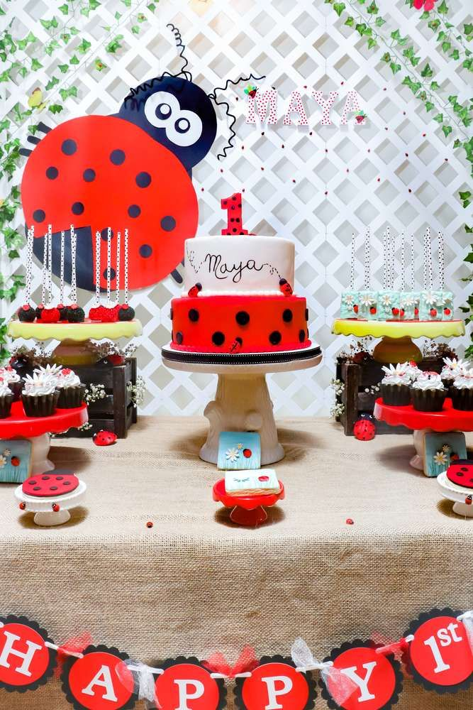 Mayas 1st Birthday Ladybug Party Is Adorable Check It Out See More Ideas And Share Yours At CatchMyParty
