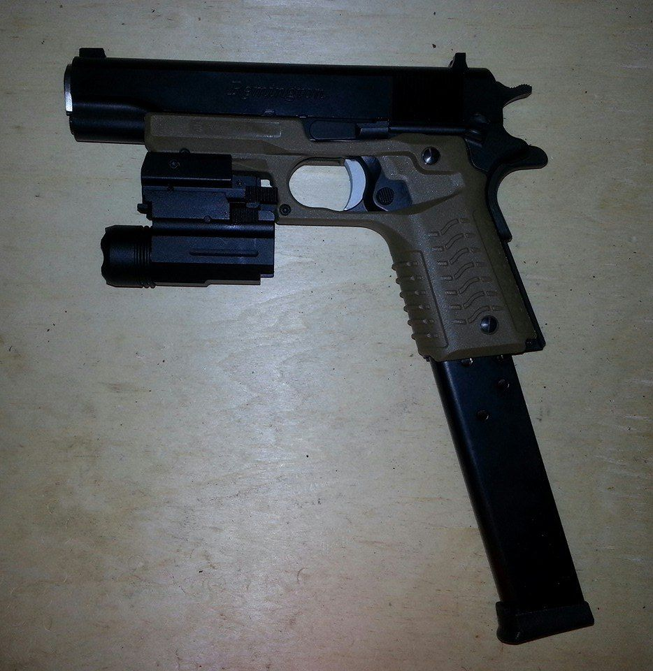 ReCover Tactical Grip and Rail System   Recover CC3 1911