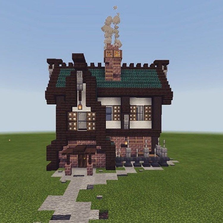 ᴅɪᴀᴍᴏɴᴅ ʙᴜɪʟᴅɪɴɢs On Instagram Repost Of A Rustic House I Did A Little While Back Sorry I Don T Have A New Minecraft Houses Minecraft Blueprints Minecraft