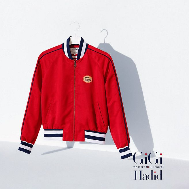 46f8cd69ad2 Tommy Hilfiger Cropped Bomber Gigi Hadid - apple red (Red) - Tommy Hilfiger  Bombers - main image