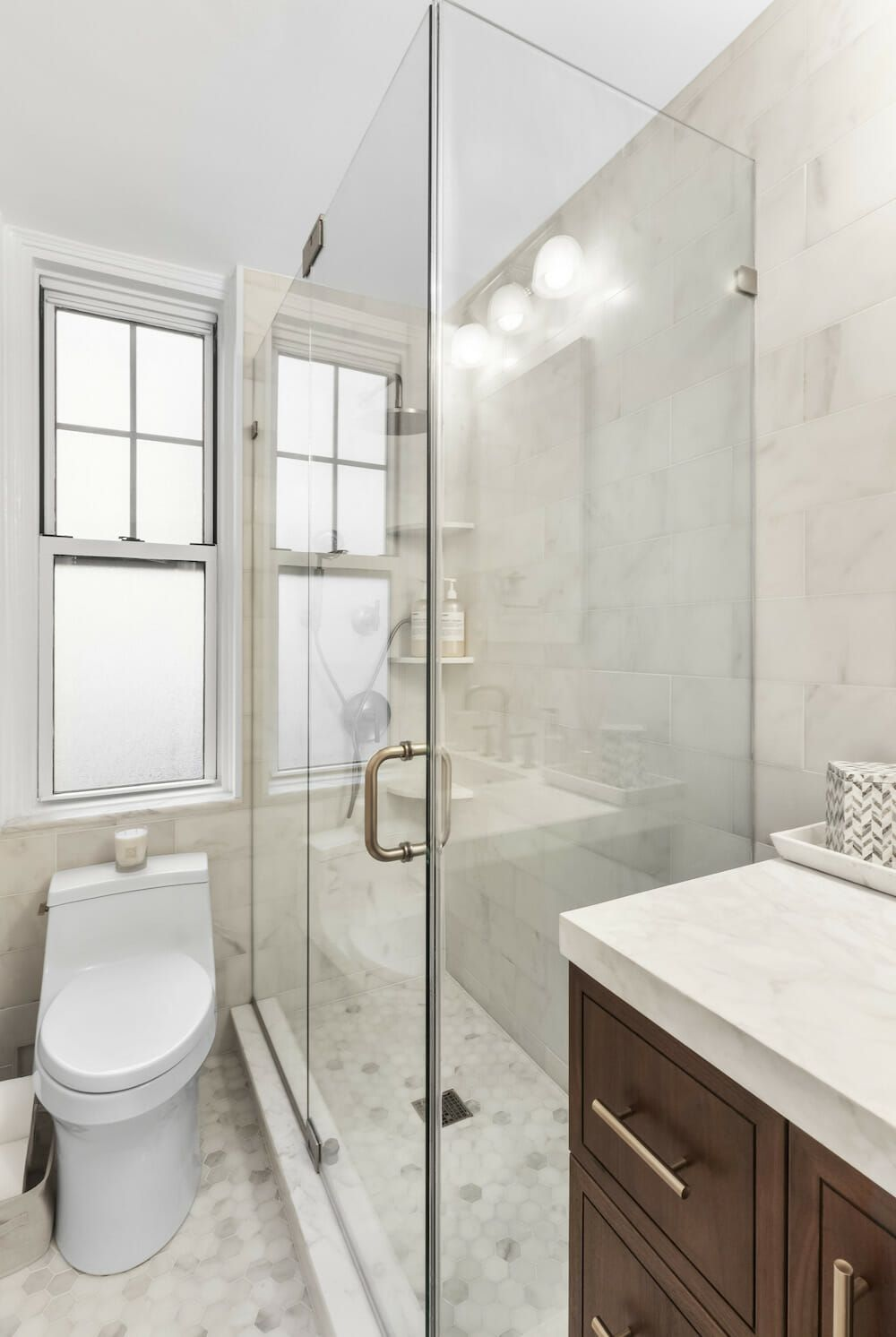 A Leak Leads To A Luxe Remodel In The West Village In 2020 Bathroom Renovation Trends Bathroom Model Bathroom Colors