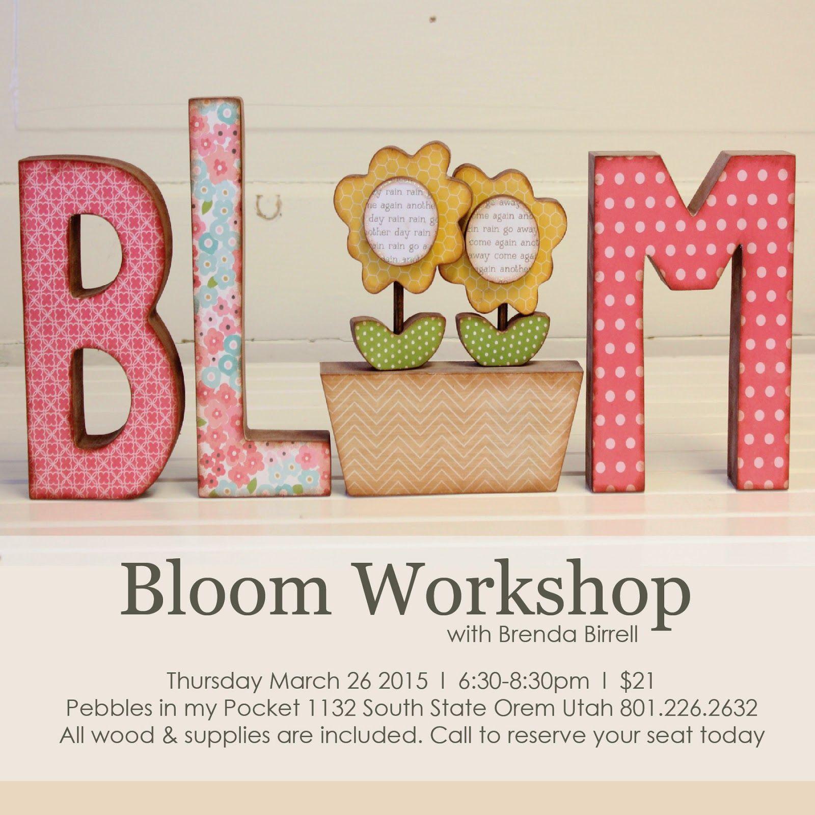 Pebbles In My Pocket Blog Bloom Workshop By Brenda Birrell
