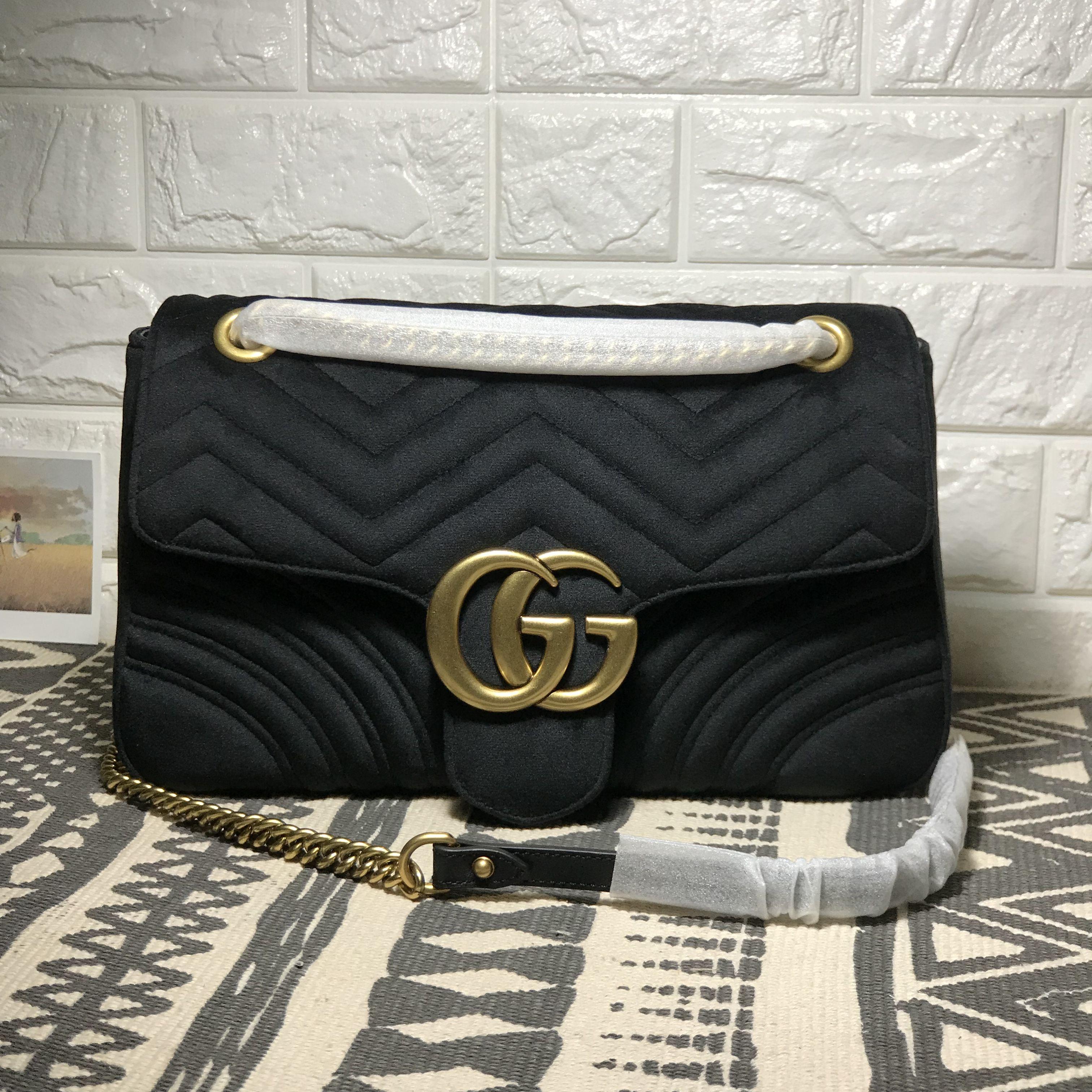 Gucci woman marmont shoulder bag velvet style large size