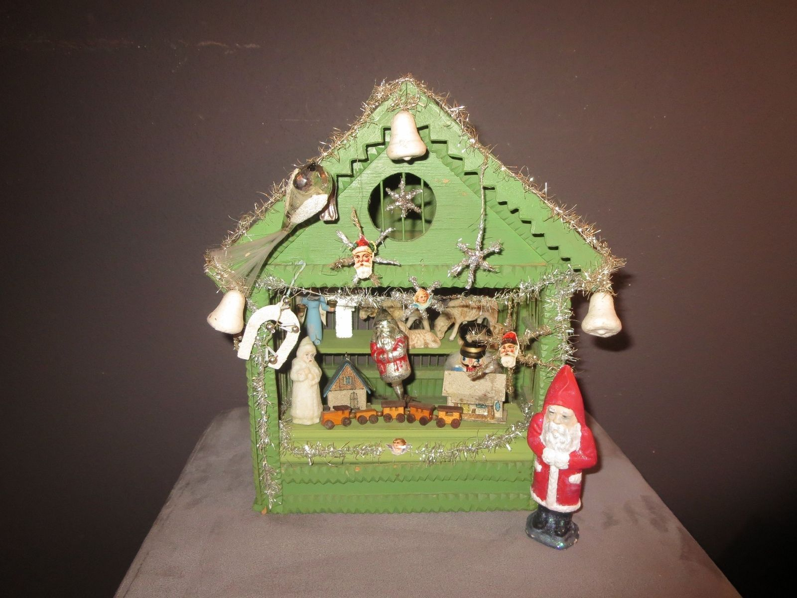 German Wooden Christmas Stall Ca 1920 Size 265 X 255 X 33 Cm