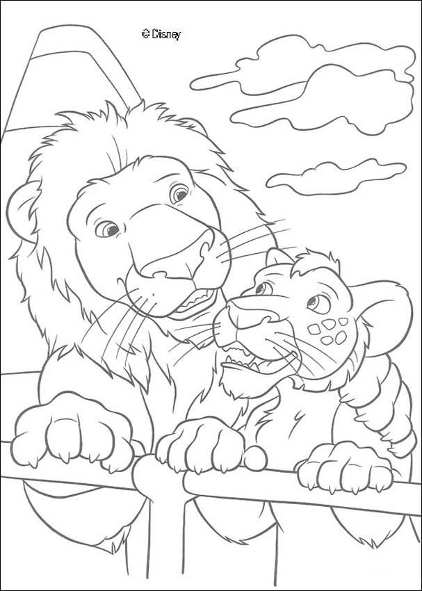 Here A Beautiful Coloring Page Of The Famous Disney Movie The Wild Color This Beautiful And Cute A Cartoon Coloring Pages Animal Coloring Pages Coloring Pages