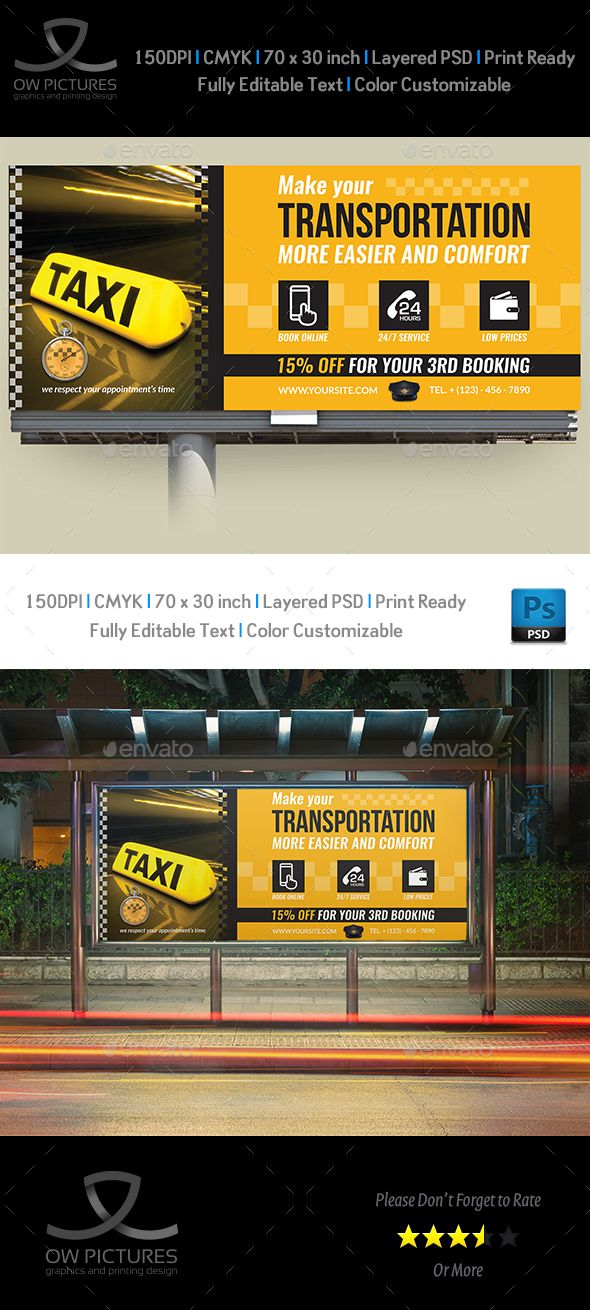 Taxi Services Billboard Template | Billboard, Taxi and Template