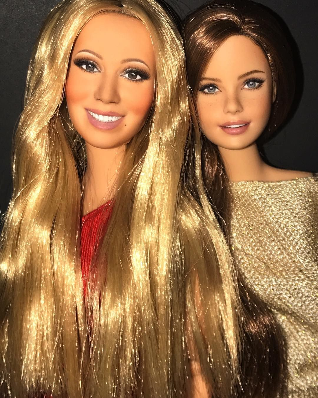 Mariah Carey With A Fan Celebrity Dolls And Dioramas In 2019